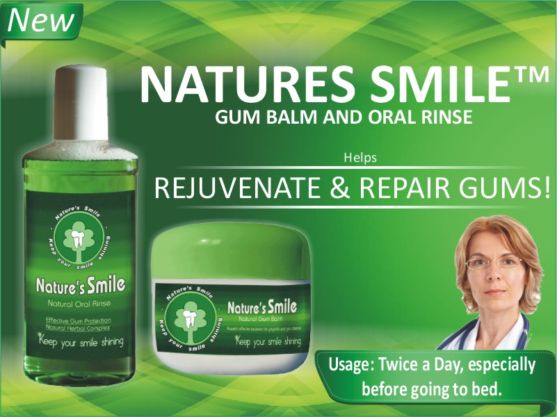 Natures Smile™ Natural Cure For Receding Gums